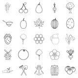 Plot icons set, outline style. Plot icons set. Outline set of 25 plot vector icons for web isolated on white background Stock Images