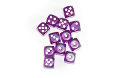 Plot Purple Dices. This Photo is Top view stlye Royalty Free Stock Photo