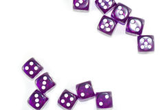 Plot Purple Dices. This Photo is Top view stlye Stock Image