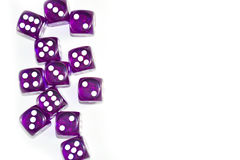 Plot Purple Dices. This Photo is Top view stlye Stock Photos