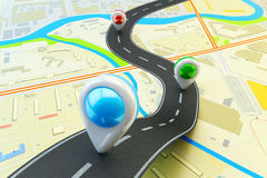 Plot a trip route, travel destination and navigation concept Royalty Free Stock Photography