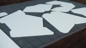 Plotador de corte de papel, unicórnio do papel vídeos de arquivo