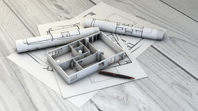 Plots and home mock-up royalty free illustration