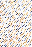 Plotseling blauwe en oranje lijnen op witte achtergrond stock illustratie