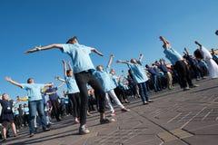 Plotseling-menigte dansprotest Royalty-vrije Stock Fotografie
