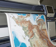 Plotter printing map Stock Images
