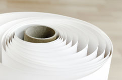 Plotter Roll paper curl Stock Images