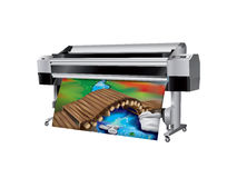 Plotter with Wooden Bridge Royalty Free Stock Photos