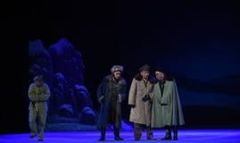 "Plotting to destabilise the throne-Peking Opera ""Taking Tiger Montain By Strategy"" Stock Photo"