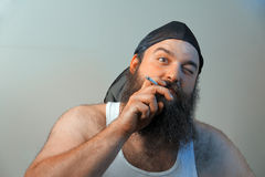 Plouc de tabagisme Photo stock