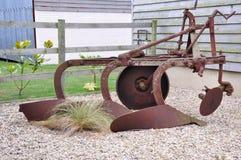 plough фермы старый заржавел Стоковые Фото