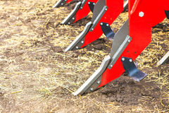 Plough close-up on the ground Royalty Free Stock Image