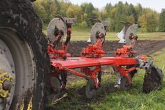 Plough in Field Royalty Free Stock Images