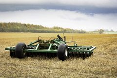 Plough in the field Royalty Free Stock Photos
