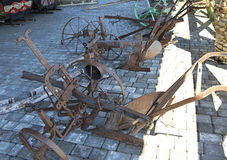 Plough or plow in Peasant Museum Royalty Free Stock Photography