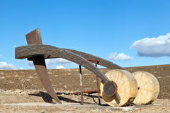 Plough sculpture Royalty Free Stock Photography