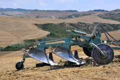 Plough in Tuscany, Italy  Royalty Free Stock Photo