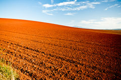 Ploughed agricultural fields Stock Photo