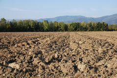 Ploughed Autumnal Field Stock Photography