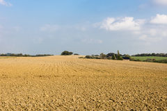 Ploughed field in autumn Stock Images