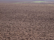 Ploughed field background Stock Photos