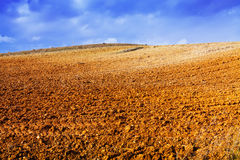 Ploughed field. Close up view at ploughed field Royalty Free Stock Image