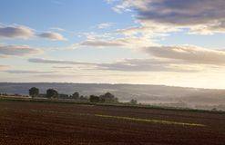 Ploughed field, Cotswolds Royalty Free Stock Photos