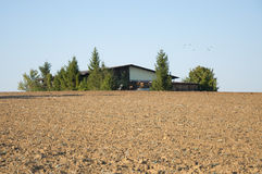 Ploughed Field in Germany Stock Photo