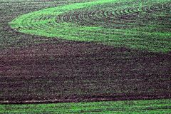 Ploughed Field Patterns Royalty Free Stock Photography
