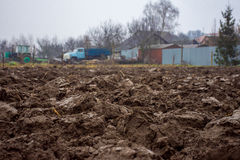 Ploughed field ready for new crops Stock Photography