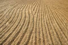 Ploughed sand Stock Photos