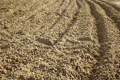 Ploughed Sand. At a beach Stock Photography