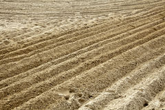 Ploughed Sand. At a beach Royalty Free Stock Photos