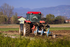 Ploughing Royalty Free Stock Images