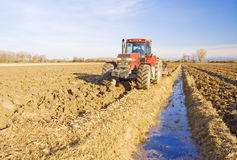 Ploughing Royalty Free Stock Image