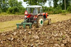 Ploughing field Stock Photo