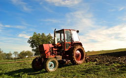 Ploughing field Stock Photography