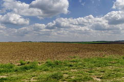 Ploughing field in spring Stock Photography