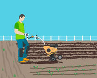 Ploughing fields Royalty Free Stock Photography