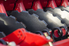 Ploughing machine detail Royalty Free Stock Photos