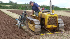Ploughing match in England Stock Images