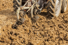 Ploughing Soil Royalty Free Stock Images