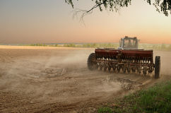 Ploughing The Land Stock Image