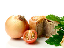 Ploughman's Lunch Macro Royalty Free Stock Images