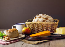 Ploughman's Lunch Spread tight Royalty Free Stock Photo