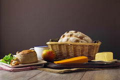 Ploughman's Lunch Spread Stock Photography