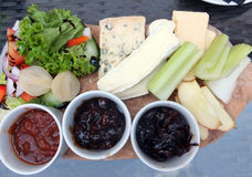 Ploughman`s Lunch. A Ploughman`s Lunch, a traditional english dish Stock Photo