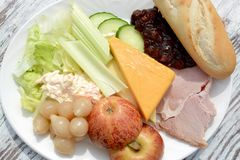 Ploughman`s salad Royalty Free Stock Photo