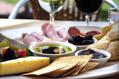 Ploughmans Lunch food platter royalty free stock photos