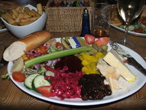 Ploughmans lunch. /salad as its sometimes served in England Stock Images